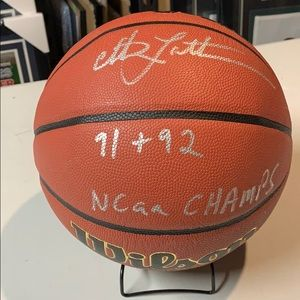 Other - Christian Laettner Signed Wilson Basketball JSA